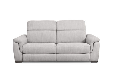 LUCIANO - Fabric 2.5 Seater Sofa with 2 Electric Recliners