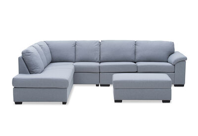 RUMPUS - Fabric Corner Suite Left-Hand Facing Chaise with Sofa Bed