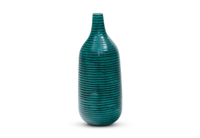MANI - 32.5cm Ribbed Ceramic Vase