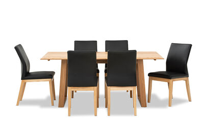 MAKENA - 7 Piece Dining Suite with Hadley Dining Chairs