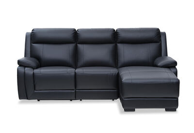 SAN MARCO - Leather 3 Seater Chaise
