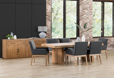 ARGENTO - 7 Piece Dining Suite with Dimitri Dining Chairs