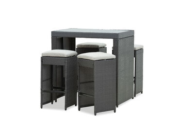 CUETA - 5 Piece Outdoor Bar Setting
