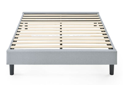 BANKS - Light Grey Double Bed Base