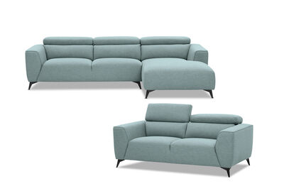 ORWELL - Fabric Sofa Pair with RHF Chaise