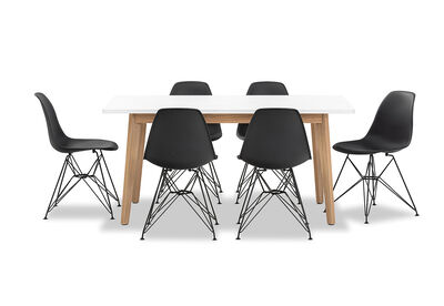 ALYSSA - 7 Piece Dining Suite with Overo Dining Chairs