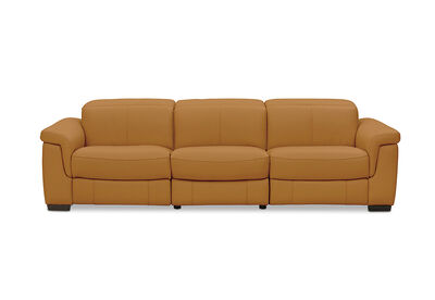 LUCIANO - Leather 3.5 Seater Sofa with 2 Electric Recliners