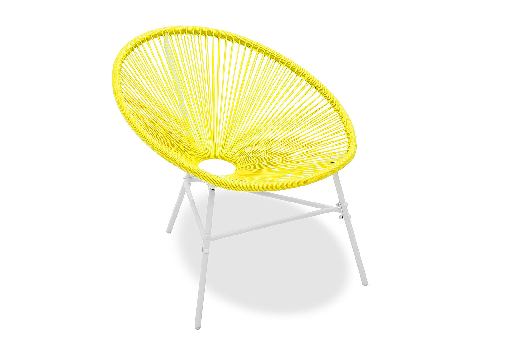 Yellow Joy Outdoor Sun Chair With White Frame Amart Furniture