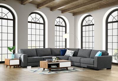 OMAHA - Fabric Corner Lounge