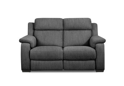 CAPELLO - Fabric 2 Seater Sofa with 2 Inbuilt Electric Recliners