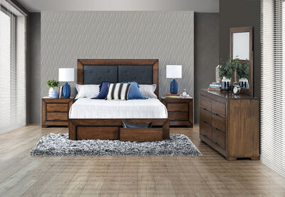 BOULDER - 5 Piece King Dresser Bedroom Suite