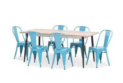 KORI - 7 Piece Dining Suite with Rocket Dining Chairs