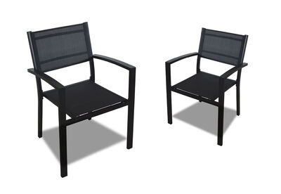 RODRIGO - Set Of 2 Outdoor Chairs. Available in Grey