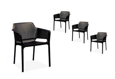 LAVAL - Set of 4 Black Dining Chairs