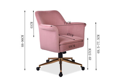 VIVIENNE - Pink Office Chair