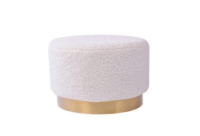 ISIDORE - White Round Ottoman