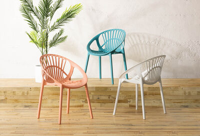 LILLE - Set of 4 Peach Dining Chairs