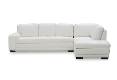 DELILAH - Leather 3 Seater Corner Chaise