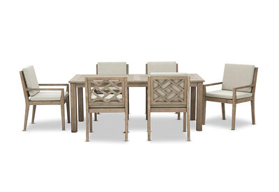LILLIAN - 7 Piece Outdoor Dining Setting