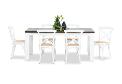 LE FRANSCHHOEK - 7 Piece Dining Suite with Bordeaux Dining Chairs