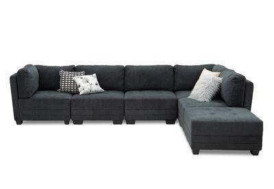 COLTON - Fabric 6 Piece Lounge Setting