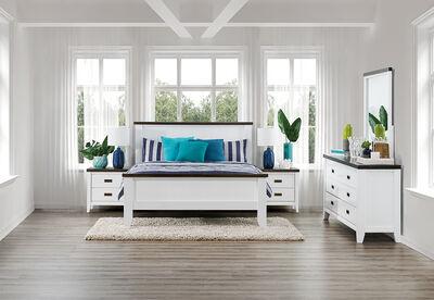 LE FRANSCHHOEK - 4 Piece Queen Dresser Bedroom Suite