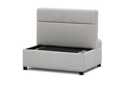 ALECTO - Rice White Ottoman Sofa Bed