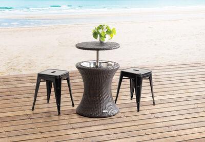 ADAMANT - Brown Outdoor Cooler Table