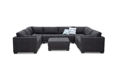 ELEANOR - Fabric 9 Piece Lounge Setting