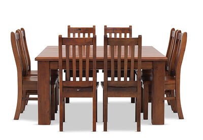 SETTLER - 9 Piece Square Dining Suite