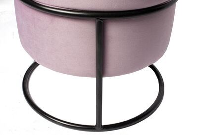 ACTIVE - Pink Velvet Ottoman with Stand