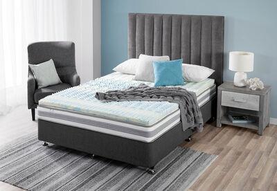 GEL COMFORT - Queen Bed 7.5cm Gel Zoned Memory Foam Topper