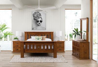 SETTLER - 4 Piece Queen Dresser Bedroom Suite