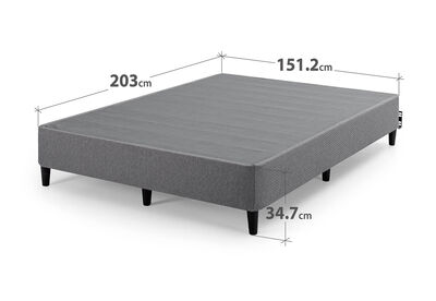 MEZA - Dark Grey Queen Bed Base