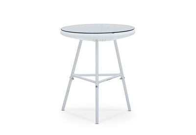JOY - Outdoor Side Table with White Frame