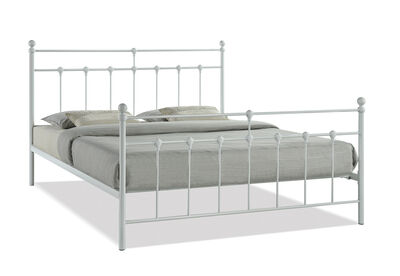 NEWMAN - White King Bed