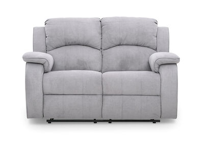 SALOON - Fabric 2 Seater with 2 Inbuilt Recliners