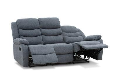 PRESCOTT - Fabric 3 Seater with 2 Inbuilt Recliners