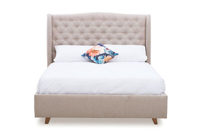 ARAGON - Fabric Queen Bed
