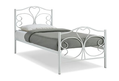LUCILLE - White Single Bed