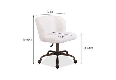SIOBHAN - White Office Chair