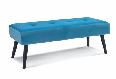 ARBOR - Blue Upholstered Bench Seat