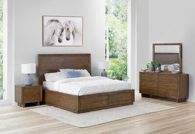 SORVINO - 4 Piece Queen Dresser Bedroom Suite