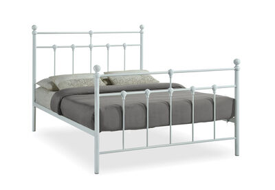 NEWMAN - White Double Bed