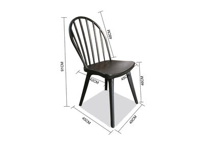 HARTSDALE - Set of 4 Black Outdoor Dining Chairs