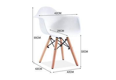 BIELLA - White Set of 4 Kids Chairs