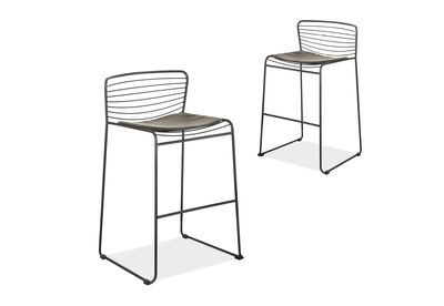 DENIZ - Set of 2 Bar Stools
