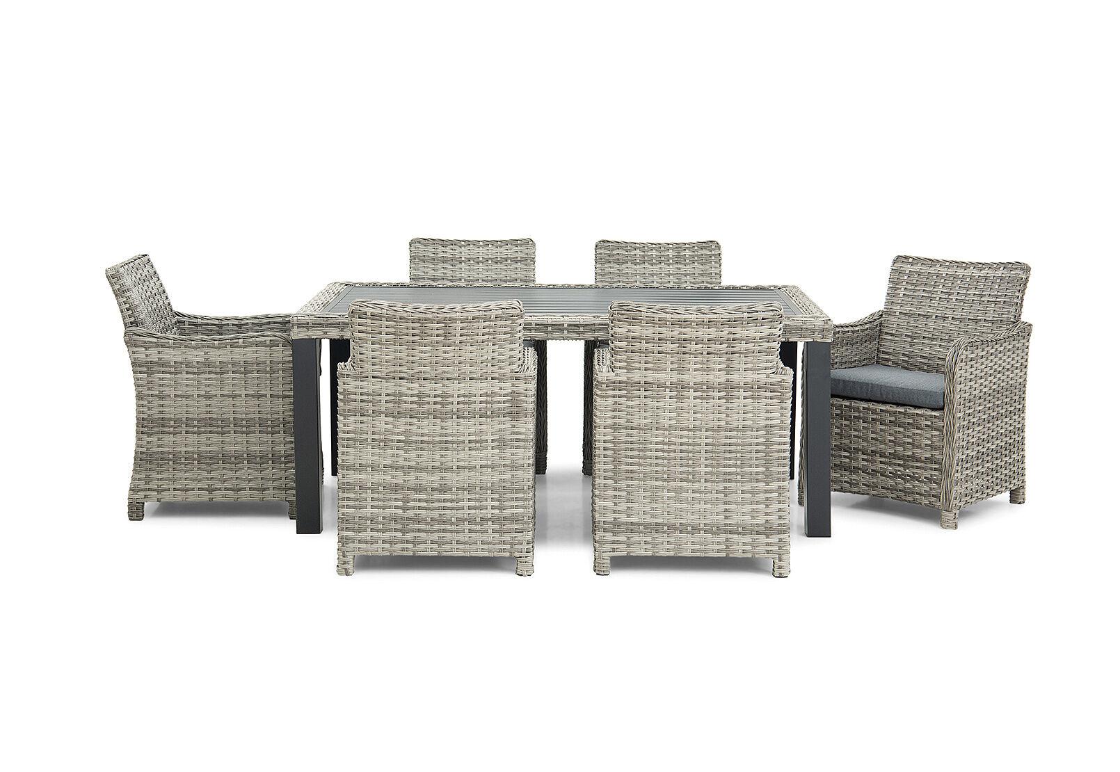 Grey Ikaros 7 Piece Outdoor Setting Amart Furniture