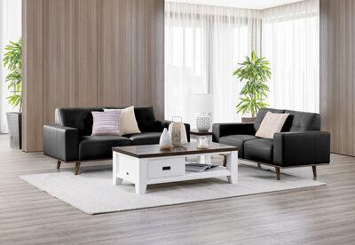 DIAZ - Leather Sofa Pair