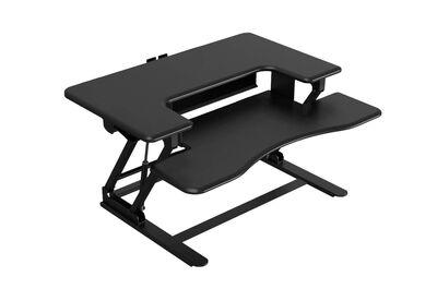 HOLLAND - Black Two-tier Standing Desk Riser